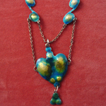 ART NOUVEAU SILVER & ENAMEL NECKLACE