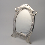 ART NOUVEAU  PEWTER MIRROR